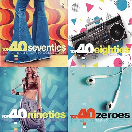 The Ultimate Top 40 Collection - 70's, 80's, 90's, 00's [8CD] (2019) MP3